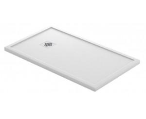SHOWER PLATE QUARTZ GRANADA 070x120 WHITE SMOOTH BDPREU