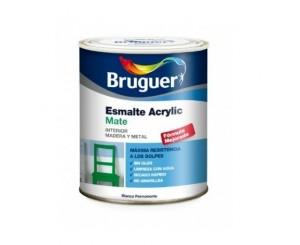 BRUGUER ESMALTE ACRILICO BLANCO MATE 250ml OFERTA