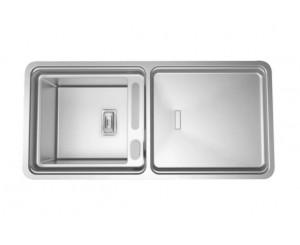 PACK FREGADERO VISION-100 1100x525 1C INOX + BOX QS 3000 CR.