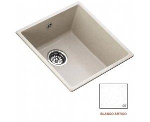FREGADERO ZENTIA BEE 4040 440x440 BLANCO ARTICO SIN ORIFICIO