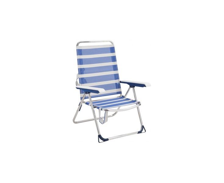 Fantastic Aluminum Beach Chair Fibreline Stripes Blue White Offer Caraccident5 Cool Chair Designs And Ideas Caraccident5Info