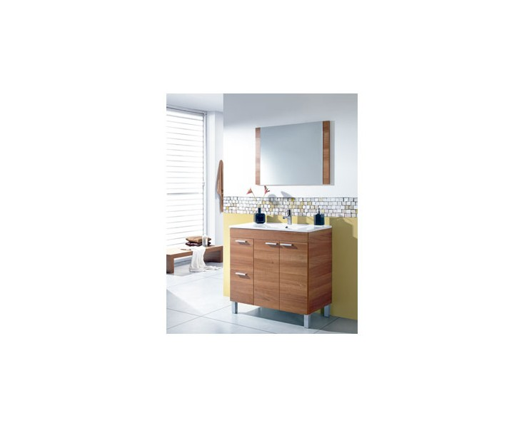 Mueble ba o espejo aktiva 305450 nogal oferta muebles - Muebles bano oferta ...